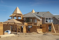 Home addition under construction Royalty Free Stock Image