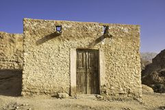 Home... Adobe home in the desert, Tunisia Royalty Free Stock Photo