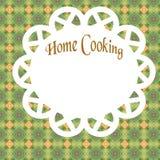 home affisch för matlagning Fotografering för Bildbyråer