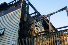 Free Home After Fire The Parts Of The House Burnning Stock Photos - 162709403