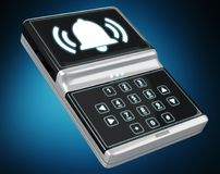 Home alarm security device 3D rendering Stock Photo