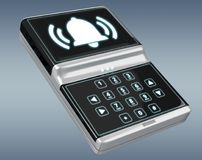 Home alarm security device 3D rendering Royalty Free Stock Photography