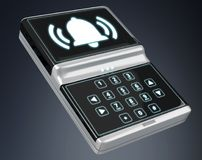 Home alarm security device 3D rendering Royalty Free Stock Photos