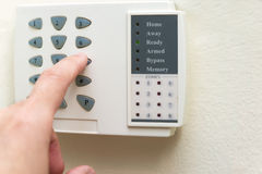 Home alarm system Stock Photo