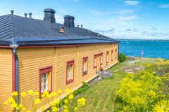 Home along the ocean, Baltic Region, Europe Royalty Free Stock Images