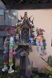Home altar. Small home budhist altar is common in many Asian countries Royalty Free Stock Photography