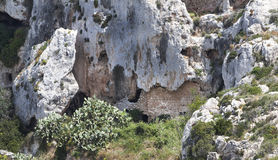Home. Ancient cave apartments in Malta Stock Photography