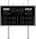 Home And Guest Scoreboard Royalty Free Stock Images