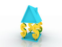 Home And Money Royalty Free Stock Image