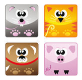 Home animals - set icon 1 Royalty Free Stock Image