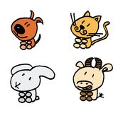 Home animals vector set Stock Images