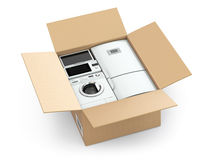 Home appliance in box. Stock Images