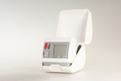 Home Appliance hemopiezometer. Home medical device for measuring the pressure of human Royalty Free Stock Photo