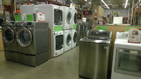 Home appliance at Home Deport. Home appliance selling at store Home Deport Stock Image