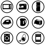 Home appliance icons set. Nine icons Royalty Free Stock Image