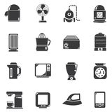 Home appliance icons. Set of 16 home appliance icons Royalty Free Stock Photography