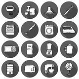 Home appliance icons Stock Images