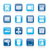 Home appliance icons Royalty Free Stock Photos