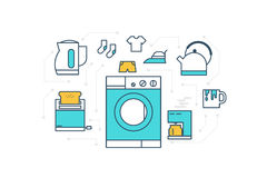 Home Appliance Illustration Royalty Free Stock Images