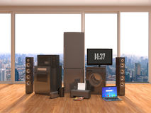 Home appliance in interior. 3D Illustration Royalty Free Stock Images