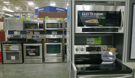 Home appliance at Lowe's Royalty Free Stock Photos