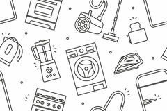 Home Appliance pattern Royalty Free Stock Image