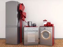 Home appliance with ribbons Royalty Free Stock Images