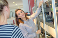 At home appliance store. At the home appliance store Royalty Free Stock Photo
