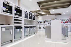 Home appliance in the store Stock Image