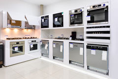 Home appliance in the store Royalty Free Stock Photography