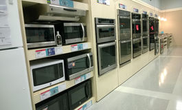 Home appliance store interior  Royalty Free Stock Photos