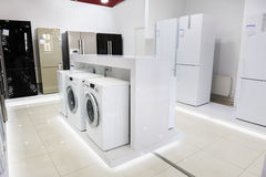 Home appliance in the store Royalty Free Stock Images