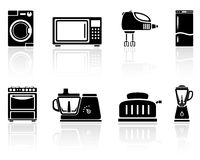 Home appliances royalty free illustration