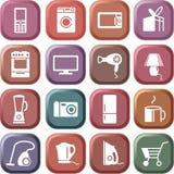 Home appliances. Vector icon set Stock Photography