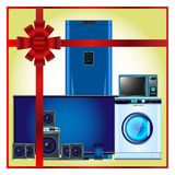 Home appliances as a gift royalty free illustration
