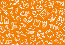 Home appliances background Royalty Free Stock Image
