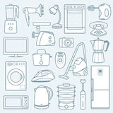 Home appliances a background Stock Photos