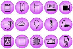 Home appliances buttons Stock Image