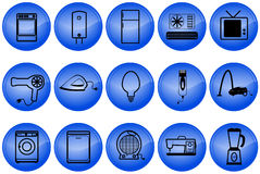 Home appliances buttons Royalty Free Stock Photos