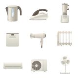 Home appliances collection Royalty Free Stock Image