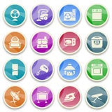 Home appliances color icons. Stock Photos