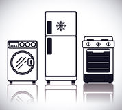 Home appliances design. Royalty Free Stock Photography