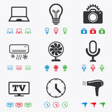 Home appliances, device icons. Air conditioning Royalty Free Stock Photography