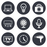 Home appliances, device icons. Air conditioning royalty free illustration