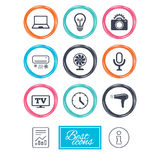 Home appliances, device icons. Air conditioning. Stock Photography