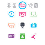 Home appliances, device icons. Electronics sign. Royalty Free Stock Image