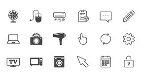 Home appliances, device icons. Electronics sign. Royalty Free Stock Photo