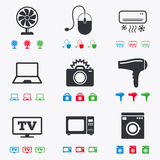 Home appliances, device icons. Electronics sign Royalty Free Stock Image