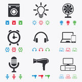 Home appliances, device icons. Ventilator sign Royalty Free Stock Image
