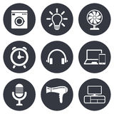 Home appliances, device icons. Ventilator sign Stock Photo